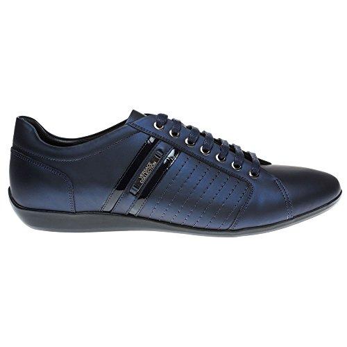 Versace Collection Formal Homme Baskets Mode Bleu BLEU - BLEU