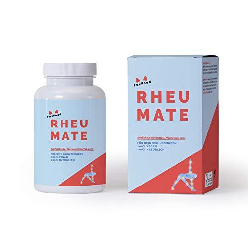 RHEUMATE | Das Kombi-Präparat mit 10 natürlichen Zutaten wie Glucosaminsulfat, Teufelskralle, Brennnessel, usw. | Nachhaltig aus Deutschland | 30 Tage Zündex Paket | Forte, Stark dosierter Complex