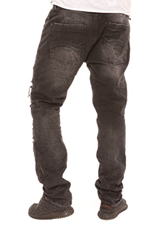 Red Bridge Homme Jeans / Jeans Straight Fit Destroyed Noir
