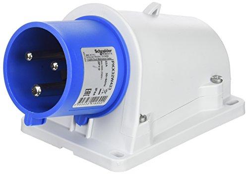 Schneider PKX32W423 CEE Wandgerätestecker Schneidklemmen, 32A, 2P+E, 200-250 V AC, IP44