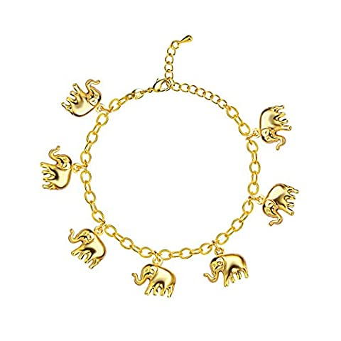 Cute Summer Jewelry Foot Bracelet On The Leg Gold 18K /Platinum Plated Wholesale Little Elephant Bracelets For Women