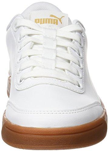 Puma Court Breaker L Mono, Baskets Mixte Adulte Blanc (Puma White-puma White-metallic Gold)