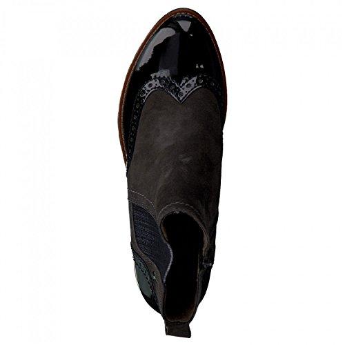 Jana signore Chelsea Boots 8-25400-284 grafite camoscio Graphite