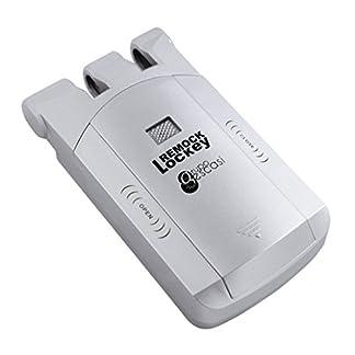 Remock Lockey RLK4S Cerradura de seguridad invisible con 4 mandos, 3 V, Plata