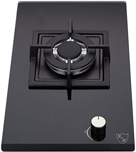 K&H Domino 1x Brûleurs Table de Cuisson Gaz en Verre trempé 30cm WOK 1Z-KHGW