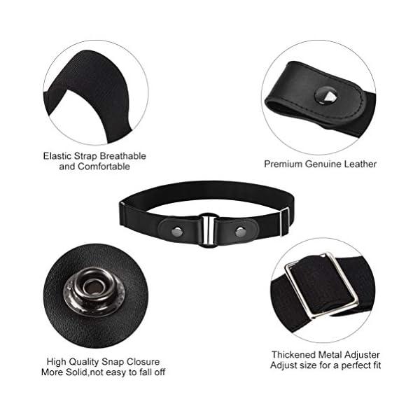 VBIGER Cintura Uomo Donna Cintura Senza Fibbia per Uomo Donna Cintura Uomo Elastica Jeans Larghezza 4 spesavip