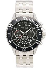 Mike Ellis New York Herren-Armbanduhr RaceTime Analog Quarz Edelstahl SM2907A1