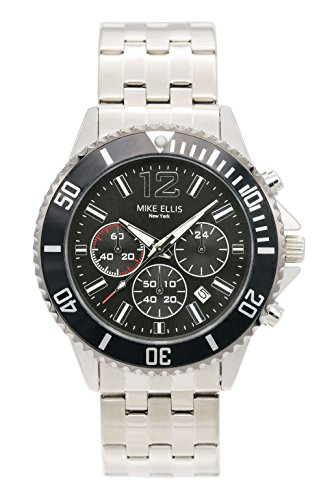 Mike-Ellis-New-York-Herren-Armbanduhr-RaceTime-Analog-Quarz-Edelstahl-SM2907A1