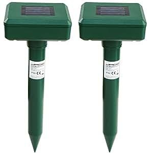Jago Scaccia anti talpe solare batteria ricaricabile ad energia solare set da 2