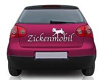 Autoaufkleber Zickenmobil B x H: 50cm x 16cm Farbe: pink von Klebefieber®