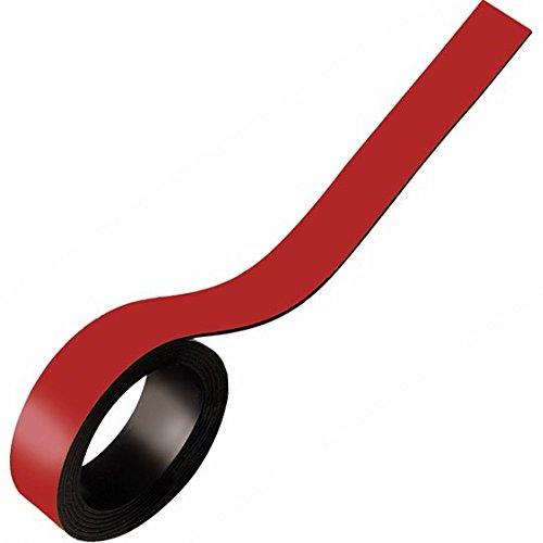 nungsband farbig, Breite 40mm - 5m Rolle - Magnetstreifen - Zum Beschriften und Markieren, von Lager, Werkstatt, für Whiteboards, Flipcharts, Präsentationen, Farbe:rot ()