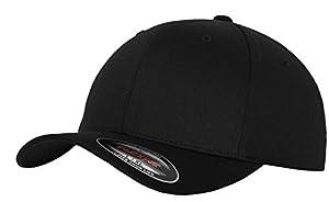 Flexfit 6277 Wooly Unisex Combed Cap, Schwarz, S/M
