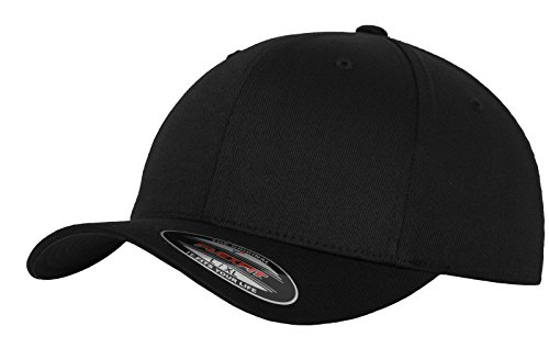 Flexfit 6277 Wooly Unisex Combed Cap, Schwarz, XXL
