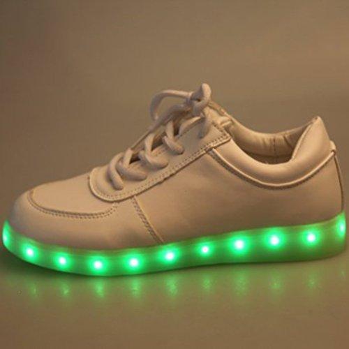 [+Kleines Handtuch]Kinderschuhe USB Lade Licht Jungen emittierende Schuhm盲dchenschuh leuchtende LED beleuchtete Sportschuhe gro脽er Junge Sc c32