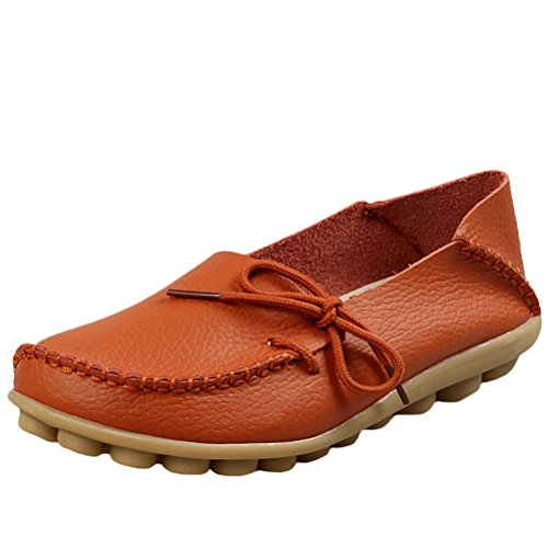 Vogstyle Damen Casual Slipper Flatschuhe Low-top Schuhe Erbsenschuhe Art 1 Orange 37 (Led 37 Tv)