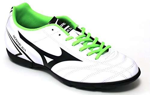 Mizuno – Mizuno Monarcida AS scarpini Futsal Homme blancs 162409 09 - White/Black/GreenGecko