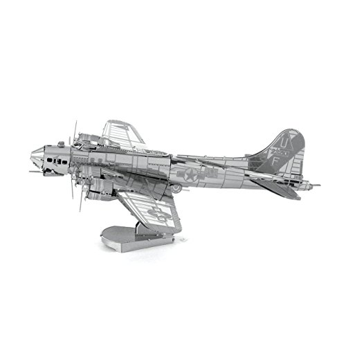 Metal Earth Fascinations B-17 FLYING FORTRESS 3d Metall puzzle, Konstruktionsspielzeug, Lasergeschnittenes Modell (Modell B-17)