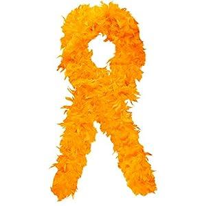 El celibato 97188842.300 - boa de plumas de lujo de 200 cm de largo - boa de plumas, 100 g, naranja