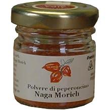 POLVERE NAGA MORICH - PEPERONCINO PICCANTE - SCOVILLE 950.000 PICCANTEZZA EXTRA SUPER- Società Agricola Alba - vaso da gr.10
