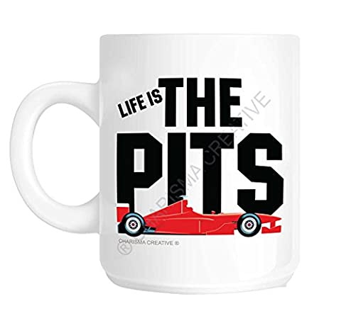 Formula One Life is The Pits Mug Ideal Father's Day Present Christmas Present Birthday Present Novelty Fun