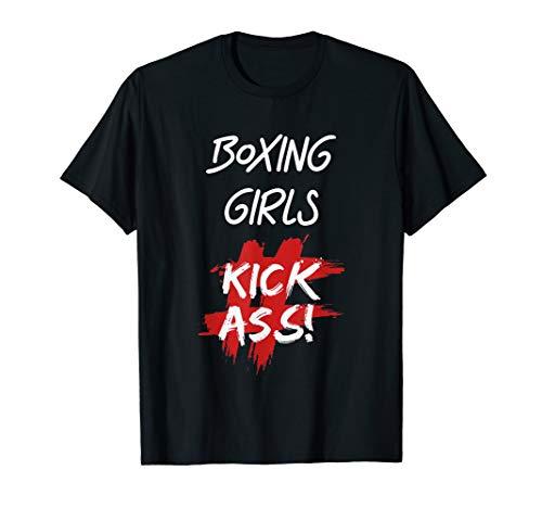 Boxing Girls Kick Ass T-Shirt Boxers Gift  T-Shirt -