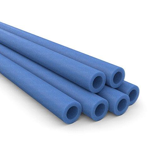 Ampel 24 6er Set Ersatz Stangenschutz für Gartentrampolin Netzpfosten, Schaumstoffrolle blau, Schaumrollen ausreichend für 3 Trampolin Pfosten