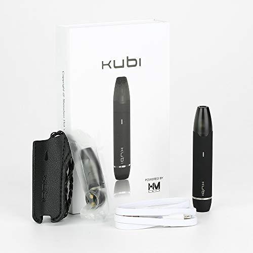 Sigarette elettroniche Hotcig KUBI Kit di avvio ricaricabile per pod Batteria integrata da 550mAh con capacità di 1,7 ml Capacità senza nicotina senza liquido (rosso nero) (nero)