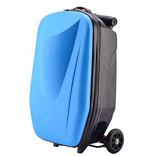 Trolley case Valigia Valigia con Ruote per Scooter Valigia per imbarco da 20 Pollici Valigia Leggera Valigia per Bagagli Leggera di Grande capacità Nero Blu Arancio