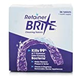 Retainer Brite Cleaning 36 Tablets For Removable Dental Appliances