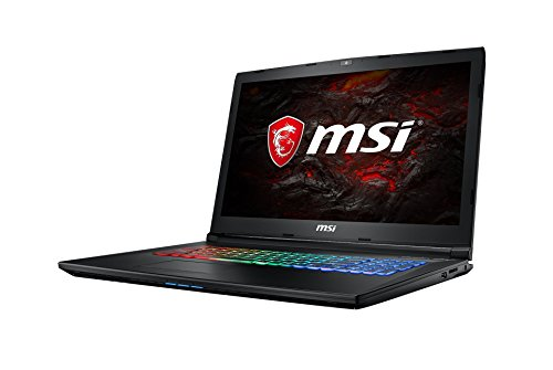 MSI GP72MVR 7RFX-631DE Leopard Pro (43,9 cm/17,3 Zoll) Gaming-Laptop (Intel Core i7-7700HQ, 16GB RAM, 256 GB SSD + 1 TB HDD, Nvidia GeForce GTX 1060, Windows 10 Home) schwarz GP72