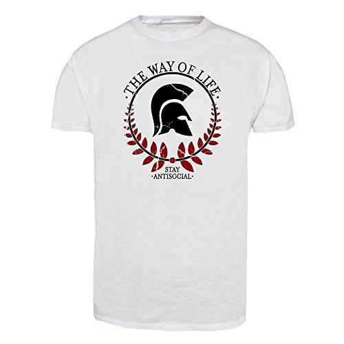 Stay Antisocial T-Shirt (weiß) Weiß