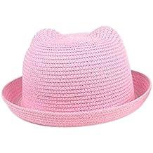 c820090d161ac Leisial Sombrero de Paja Playa Sombrero de Sol de Ocio al Deporte Aire  Libre Verano para