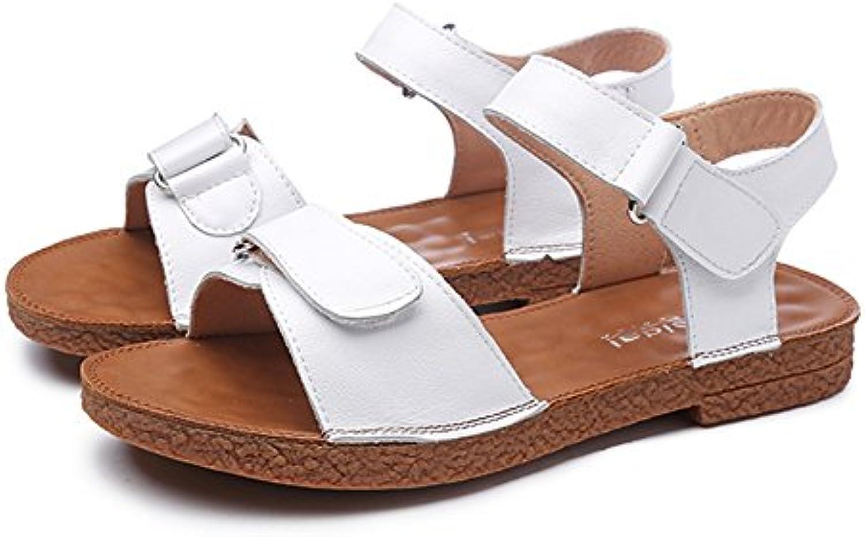 Slipper CAICOLOR Sandalias de Velcro Femeninas de Verano Suave Abajo Plano Señoras Zapatos de Verano Antideslizantes...