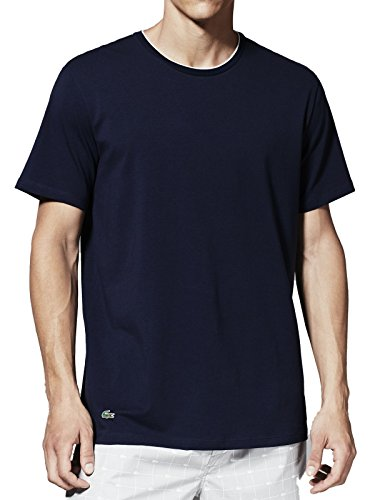 Lacoste Underwear Herren Schlafanzugoberteil Lacoste C/N Stretch Sleep Tee, Gr. X-Large, Blau (dunkelblau 803)