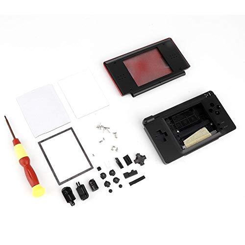 Preisvergleich Produktbild NITRIP ABS Schwarz Rot Weiß Blau Schutz Game Console Housing Shell Ersatz-Kit mit Schraubendreher(rot)