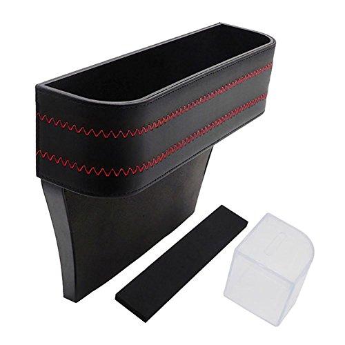 Sunsline Multifunktional Autositz Gap Aufbewahrungsbox Car Seat Gap Storage Box Organisieren für Telefon Karte Schlüssel (Schwarz) (Organisieren Anzeige Storage Box)