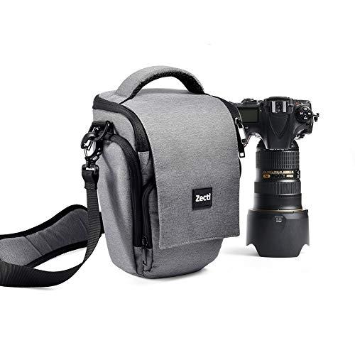 Professioneller Kameratasche, Zecti Fototasch Schlaufen Rucksack für Nikon Canon Sony und DSLR Kameras und Objektiv, Weiteres Zubehör, wasserdichte Tasche (Grau)