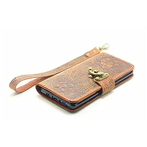 JJNUSA Handmade Retro book Style Leather Wallet Case for Samsung Galaxy NOTE 8