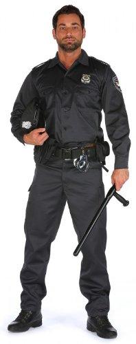 m Uniform Chicago Police schwarz langarm, Hosengröße:XL - W36;Größe:L (Halloween-kostüme Cop)