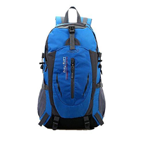 haoyk Outdoor Reise Bergsteigen Wasserdicht Sport Wandern Rucksack Große Tagesrucksack Rucksack Blau