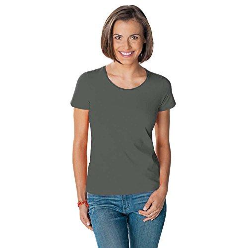Hanes - T-shirt en coton Tasty - col rond/manches courtes - femme Kaki