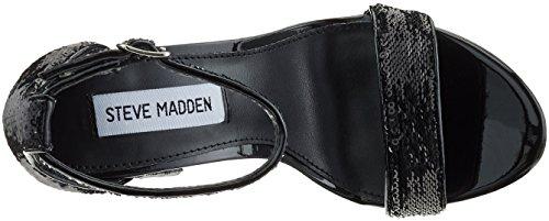 Donna Carrson paillettes Steve Sandali Di Aperti Nere Madden Colore Toed gXq851q
