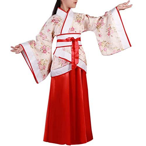 Xiedea Gemütlich Konfuzius Performance Kleidung - Kinder Chinesisch Stil Hanfu Bühne Show Cosplay National Traditionell Drama Retro Folk (Bühnen-drama)