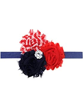Zhhlaixing Kids Baby Girls Toddler Chiffon Silk Flowers Headband Hairband Flower Hair Accessories for Christmas...