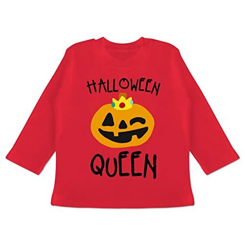 (Anlässe Baby - Halloween Queen Kostüm - 3-6 Monate - Rot - BZ11 - Baby T-Shirt Langarm)
