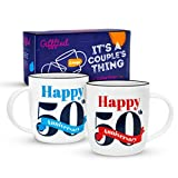 Gifffted Tasses 50 Ans Anniversaire, Mug Original Idée Cadeau Anniversaire Mariage...
