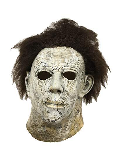 chael Myers Maske für Halloween- und Karnevalskostüme für Männer mit Perücke mit Vollkopf-Latexhelm ()