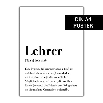 Lehrer Definition: DIN A4 Plakat