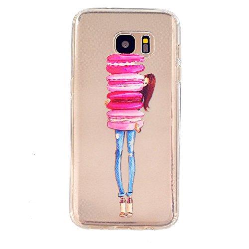 KSHOP Schutzhülle Weiche TPU Silikon für Sumsung Galaxy S7 Hülle Case Cover Taschen Schale Dünn Durchsichtig kratzfeste stoßdämpfende - Hamburger Mädchen
