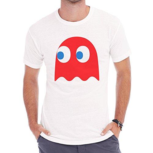 Pack Man Yellow Game Nintendo Red Ghost Herren T-Shirt Weiß